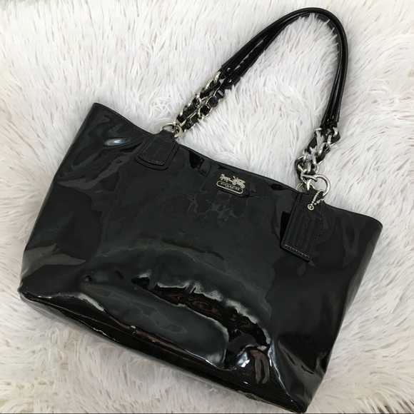 Coach Patent Leather Madison Shoulder Tote